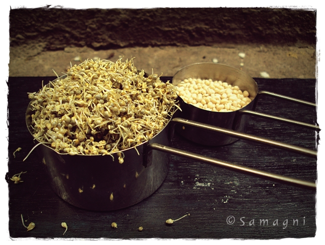 sprouted bajra and urad dal