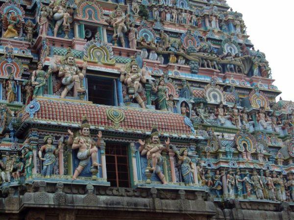 Palazhi madhanam on south gopuram