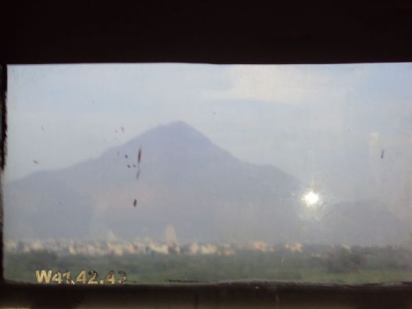 Thiruvannamalai thru a bus window