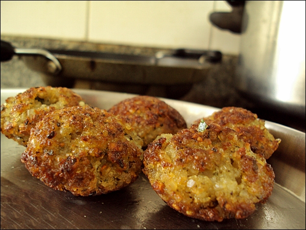Crunchy Paniyaram made from adai batter