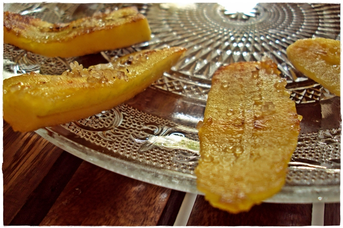 caramelized sugar on banana