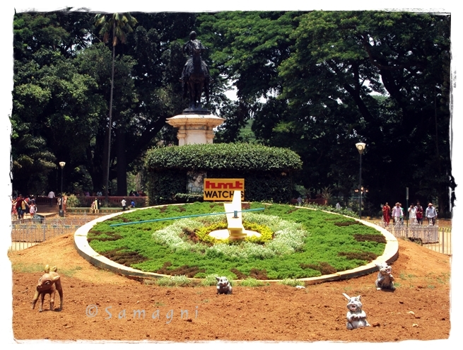 Clock at Lalbagh entrance