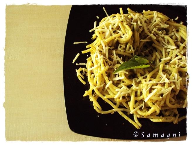 Basil Walnut Pesto Pasta