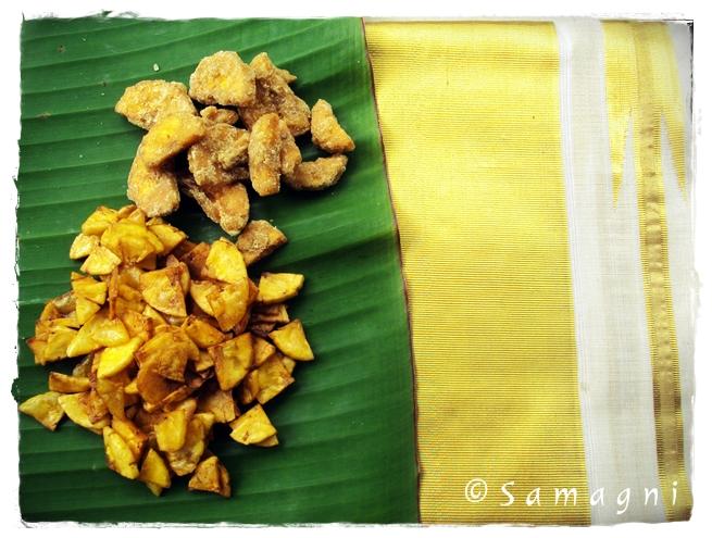 Salt and sweet banana chips