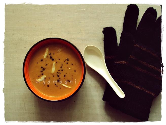 Carrot almond soup