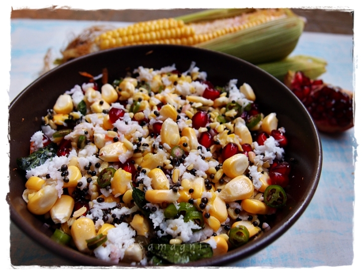 Raw sweet corn kosambari